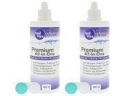 Premium All-In-One Kontaktlinsen Pflegemittel (2x 360ml)...