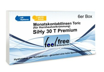 Feel free Brillenpause SiHy Hyaluron Toric (6er)
