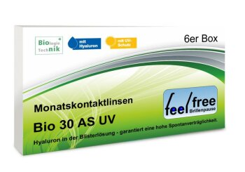 Feel free Brillenpause bio 30 AS UV (6er)
