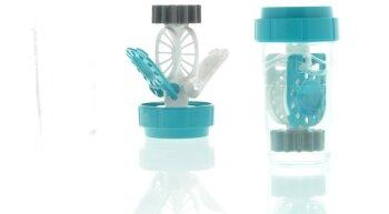 Kontaktlinsen Aufbewahrungsbehälter stehend Katalysator türkis