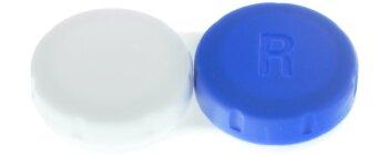 Kontaktlinsenbehälter II blau weiß