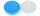 Kontaktlinsenbehälter II hellblau weiß
