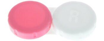 Kontaktlinsenbehälter II pink weiß