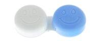 Kontaktlinsenbehälter Smiley blau