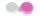 Kontaktlinsenbehälter Smiley rosa