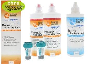 Peroxid one step Plus Multipack (2x 360 + 1x 360ml Kochsalzlösung)
