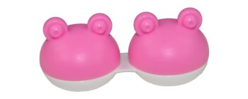 Kontaktlinsen Aufbewahrungsbehälter Box Frosch rosa