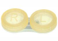 Kontaktlinsenbehälter transparent orange