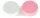 Kontaktlinsenbehälter weiß rosa