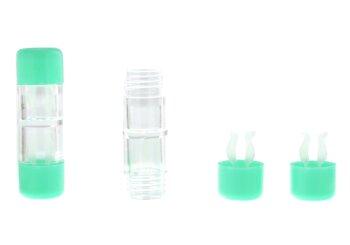 Kontaktlinsenbehälter Hart grün