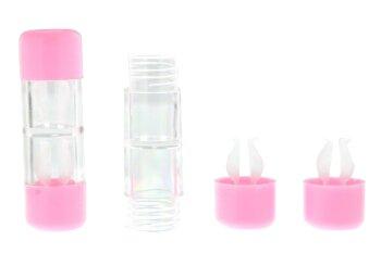 Kontaktlinsenbehälter Hart rosa