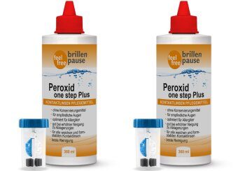 Peroxid one step Plus NEU Kontaktlinsen Pflegemittel (2x 360ml)