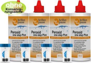 Peroxid one step Plus NEU Kontaktlinsen Pflegemittel (4x 360ml)