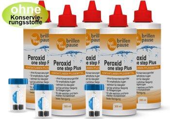 Peroxid one step Plus NEU Kontaktlinsen Pflegemittel (5x 360ml)