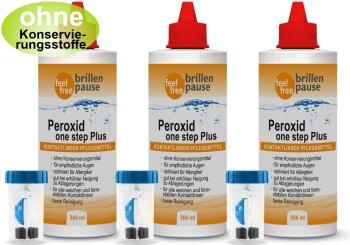 Peroxid one step Plus NEU Kontaktlinsen Pflegemittel (3x 360ml)