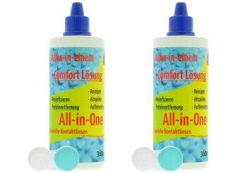 Comfort All-In-One Kontaktlinsen Pflegemittel (2x 360ml/2 Behälter)