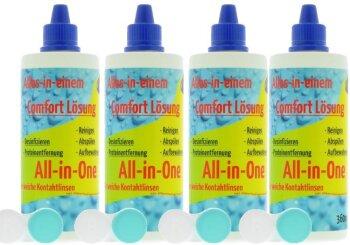 Comfort All-In-One Kontaktlinsen Pflegemittel (4x 360ml/4 Behälter)